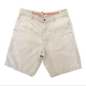 Tommy Bahamas Khaki Shorts. 34 waist,10 in. Inseam